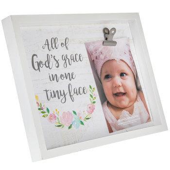 God's Grace Wood Decor With Photo Clip
