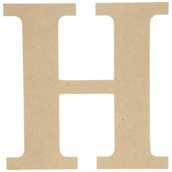 """Wood Letter H - 9 1/2"""""""