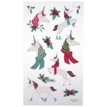 Christmas Unicorn Foil Stickers