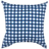 Blue Gingham Pillow