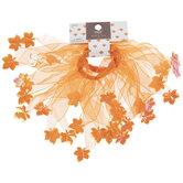 Orange Leaf Tutu Hair Ties