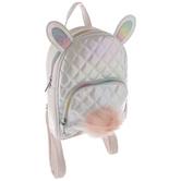 Iridescent Bunny Quilted Backpack