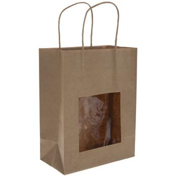 Kraft Window Craft Bags