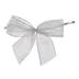 Silver Bow Twist Ties