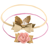 Rose & Feather Bow Headbands