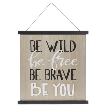 Be Wild Be Free Wood Wall Decor