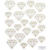Gold Foil Geometric Diamond Stickers