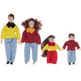 Brunette Family Dolls