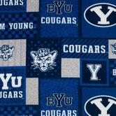 Brigham Young Block Collegiate Fleece Fabric