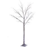 Flocked Branch Bare Pre-Lit Christmas Tree - 6'