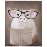 Creative Cooking Pig Canvas Wall Decor