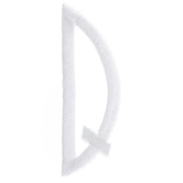 "White Circular Monogram Iron-On Right Letter Q - 1 3/4"""