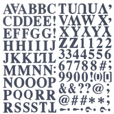 Navy Formal Alphabet Stickers