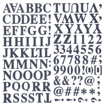 Navy Formal Alphabet Stickers