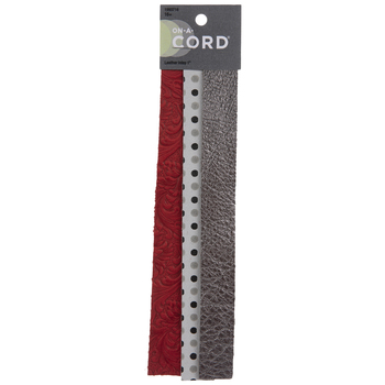 Red, Dot & Metallic Leather Inlays