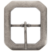 Antique Nickel Clipped Corner Metal Belt Buckle