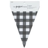 Black & White Buffalo Check Pennants