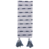 White & Blue Striped Kitchen Towel