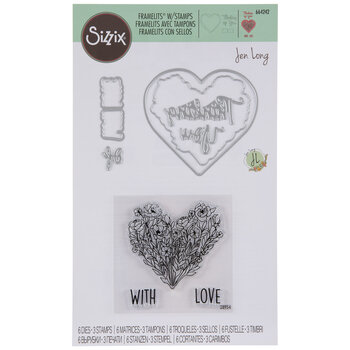 Thinking Of You Floral Heart Dies & Stamps