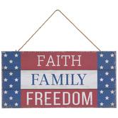 Faith Family Freedom Wood Wall Decor