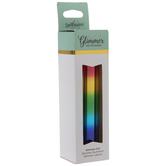 Rainbow Striped Metallic Glimmer Hot Foil