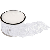 White Eyelet Decorative Trim With Scalloped Edge - 1 3/4""