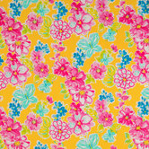 Yellow Bright Floral Apparel Fabric