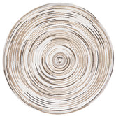 White, Taupe & Gray Round Woven Placemat