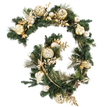 Gold Glitter Ornament Garland