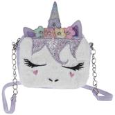 Purple Faux Fur Unicorn Bag