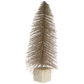 Gold Glitter Potted Sisal Tree