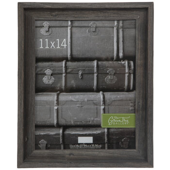 "Gray Rustic Barnwood Wall Frame - 11"" x 14"""