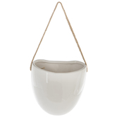 White Egg Wall Flower Pot