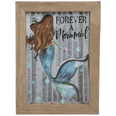 Forever A Mermaid Galvanized Metal Decor