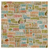 """Outdoor Words & Icons Scrapbook Paper - 12"""" x 12"""""""