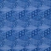 Indigo Faux Kantha Cotton Calico Fabric