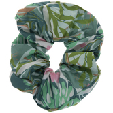 Green Floral Scrunchie Headband