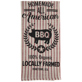 BBQ Pig Striped Kitchen Towel