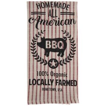 BBQ Pig Striped Kitchen Towel