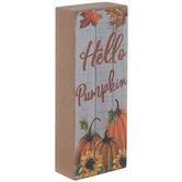 Hello Pumpkin Wood Decor