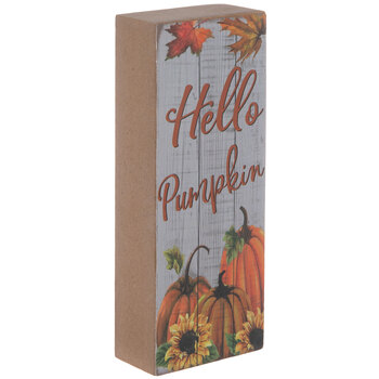 Hello Pumpkin Wood Decor