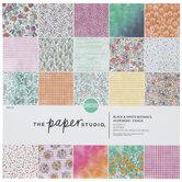 "Multi-Color Botanical Cardstock Paper Pack - 12"" x 12"""