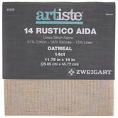 "Oatmeal 14-Count Rustico Aida Cross Stitch Fabric - 11 3/4"" x 18"""