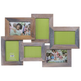 Brown & Gray Wood Collage Wall Frame