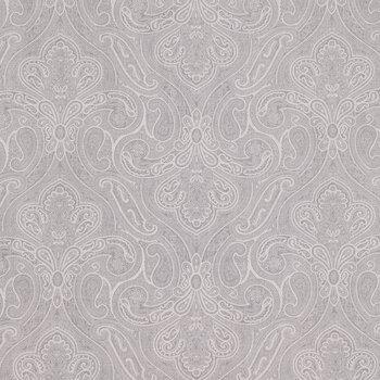 Light Gray Wide Paisley Cotton Fabric