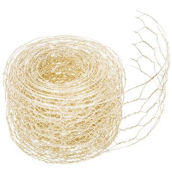 "Gold Chicken Wire Metal Ribbon - 2 1/4"""