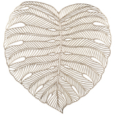 Gold Monstera Leaf Placemat