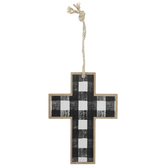 Buffalo Check Wood Wall Cross