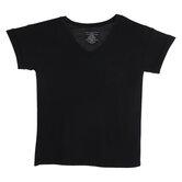 Black Drapey V-Neck Adult T-Shirt - Large