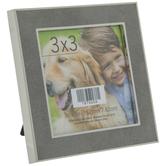 "Gray & Gold Metal Frame - 3"" x 3"""